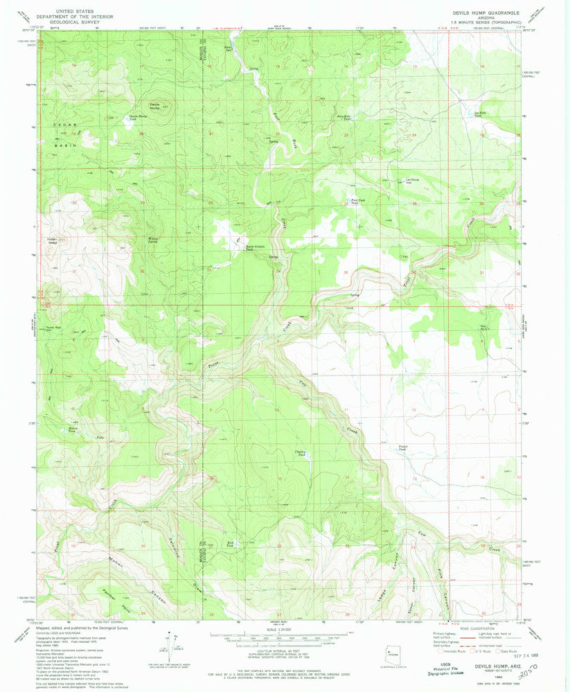 us topo - DEVILS HUMP, Arizona (7.5'×7.5' Topographic Quadrangle) - Wide World Maps & MORE! - Map - Wide World Maps & MORE! - Wide World Maps & MORE!