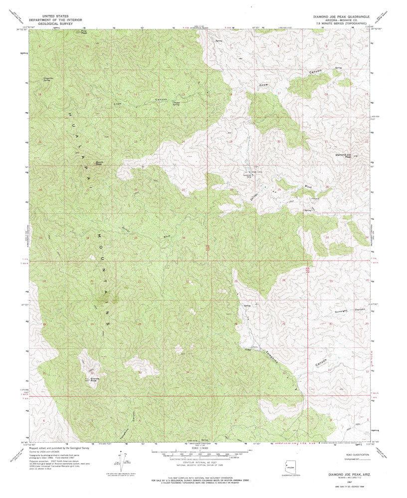 us topo - DIAMOND JOE PEAK, Arizona 7.5' - Wide World Maps & MORE! - Map - Wide World Maps & MORE! - Wide World Maps & MORE!