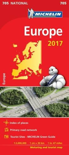 Europe 2017 National Map 705 (Michelin National Maps) - Wide World Maps & MORE! - Book - Wide World Maps & MORE! - Wide World Maps & MORE!