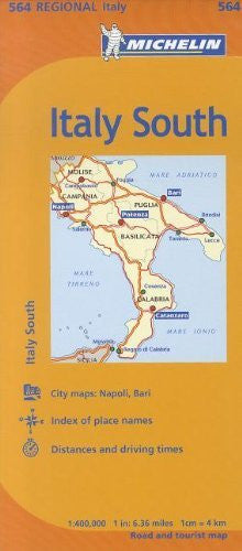 Michelin Italy: South Map 564 (Maps/Regional (Michelin))
