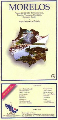 Morelos State & Cuernavaca City Map EIAGS (Spanish Edition)