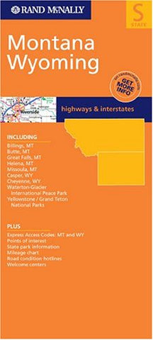 Rand McNally Montana, Wyoming: Highways & Interstates (Rand McNally Folded Map: States)