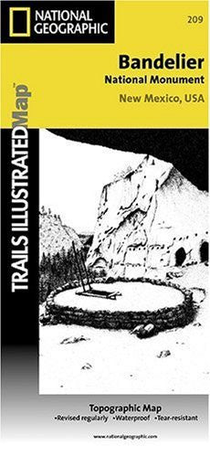 Trails Illustrated Topo Map: Bandelier National Monument - New Mexico, USA (Trails Illustrated - Topo Maps USA)