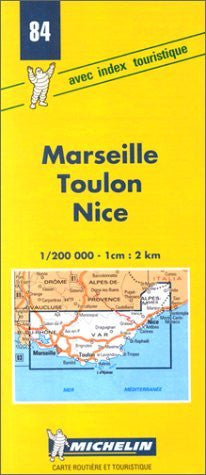 Michelin Marseille/Toulon/Nice, France Map No. 84 (Michelin Maps & Atlases)