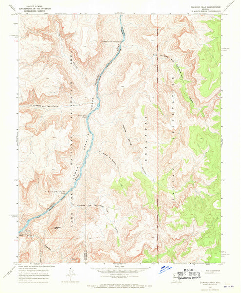 DIAMOND PEAK, Arizona 7.5' - Wide World Maps & MORE! - Map - Wide World Maps & MORE! - Wide World Maps & MORE!