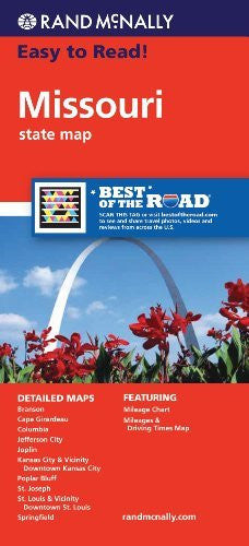 Rand McNally Easy To Read: Missouri State Map