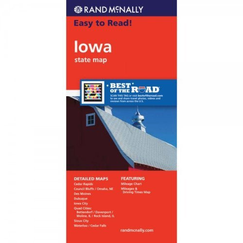 Rand McNally Easy To Read: Iowa State Map