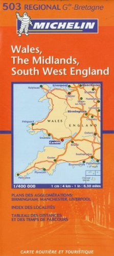 us topo - Michelin Map Great Britain: Wales, The Midlands, South West England 503 (Maps/Regional (Michelin)) - Wide World Maps & MORE! - Book - Michelin - Wide World Maps & MORE!