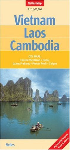 us topo - Vietnam - Laos - Cambodia Nelles Map (English, French and German Edition) - Wide World Maps & MORE! - Book - Nelles Verlag - Wide World Maps & MORE!