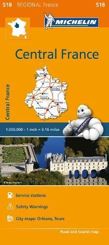 Michelin Regional Maps: France: Central France Map 518