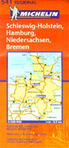 Michelin Map No.541 Northwest Germany, Scale 1:300,000 (Michelin Guides and Maps)
