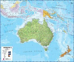 us topo - Australasia, Pol, 39x47 Lam - Wide World Maps & MORE! - Book - HEMA - Wide World Maps & MORE!