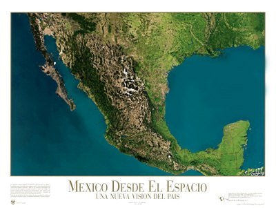 Mexico from Space - ©Spaceshots Art Poster Print, 32x24