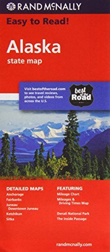 us topo - Rand Mcnally Easy to Read Alaska State Map - Wide World Maps & MORE! - Book - Rand McNally and Company - Wide World Maps & MORE!