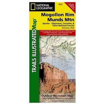 us topo - Mogollonrim Coconino Nf #855, Arizona, Publisher - National - Wide World Maps & MORE! - Sports - National Geographic Books - Wide World Maps & MORE!
