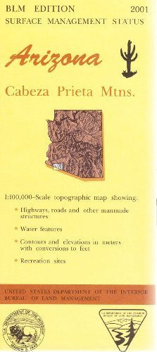 us topo - Arizona: Cabeza Prieta Mtns. : 1:100,000-scale topographic map : 30 X 60 minute series (topographic) (Surface management status) - Wide World Maps & MORE! - Book - Wide World Maps & MORE! - Wide World Maps & MORE!