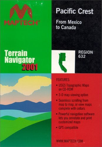 MyTopo Maptech TNav Pacific Crest Topographical Map CD-ROM (Windows)