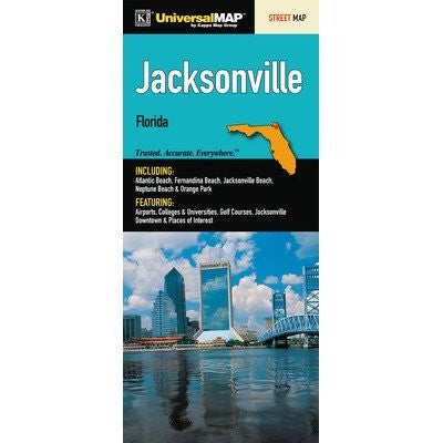Jacksonville/Duval County Florida Fold Map [Set of 2]