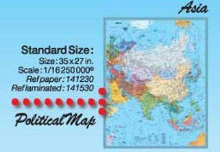 us topo - Asia Political Wall Map Gloss Laminated - Wide World Maps & MORE! - Book - Wide World Maps & MORE! - Wide World Maps & MORE!