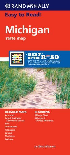 Rand McNally Easy To Read: Michigan State Map