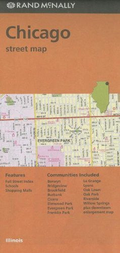 Rand McNally Folded Map: Chicago Street Map (Red Cover)