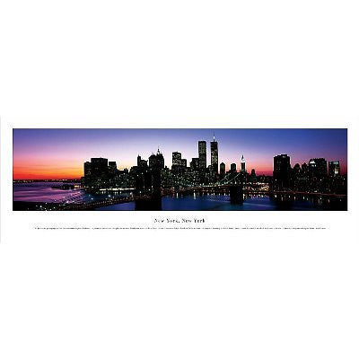 New York, New York, Series 3 by James Blakeway Panoramas. Size 37.50 X 9.00 Art Poster Print