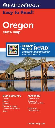 Rand McNally Easy To Read! Oregon State Map - Wide World Maps & MORE! - Map - Rand McNally - Wide World Maps & MORE!
