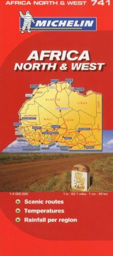 Michelin Map Africa North & West  741 (w/cover) (Maps/Country (Michelin))