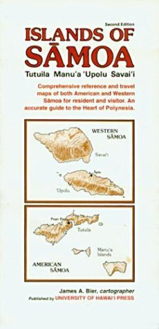 Islands of Sāmoa: Reference Map of Tutuila, Manu'a, 'Upolu, and Savai'i - Wide World Maps & MORE! - Book - Brand: Univ of Hawaii Pr - Wide World Maps & MORE!