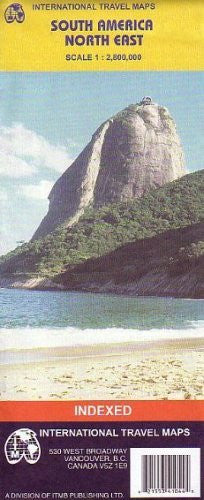 South America, NE Third (Travel Reference Map)