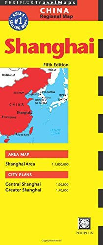 us topo - Shanghai Travel Map Fifth Edition (Periplus Travel Maps) - Wide World Maps & MORE! - Book - Periplus Editions (COR) - Wide World Maps & MORE!