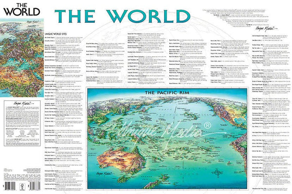 World Folded Map Unique Media
