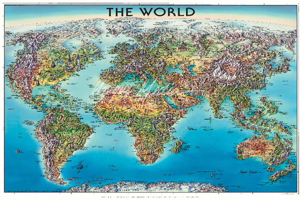 us topo - World Folded Map Unique Media - Wide World Maps & MORE! - Map - Brand: Unique Media - Wide World Maps & MORE!