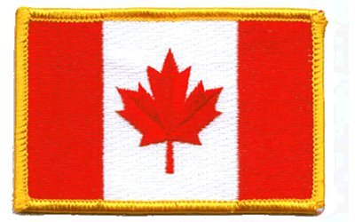 Canada Flag: An Embroidered Iron-On Patch (Two-Pack)