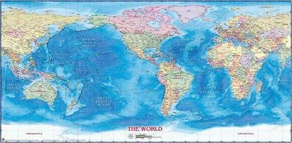 WIDE WORLD Political World Mural Gloss Laminated