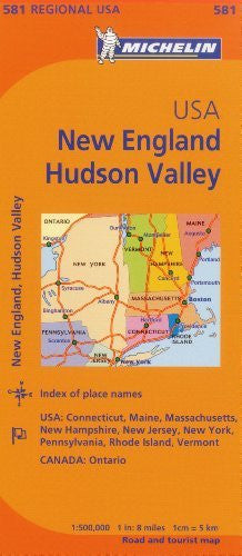 us topo - Michelin USA: New England, Hudson Valley Map 581 (Maps/Regional (Michelin)) - Wide World Maps & MORE! - Book - Michelin Travel & Lifestyle (COR) - Wide World Maps & MORE!