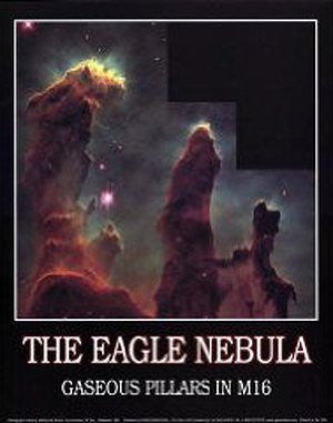 The Eagle Nebula: Gaseous Pillars in M16 Gloss Laminated
