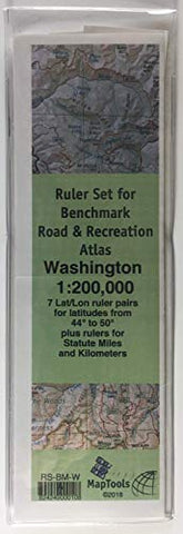 MapTools Ruler Set for Benchmark Road & Recreation Atlas - Washington