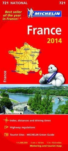France 2014 National Map 721 (Michelin National Maps)