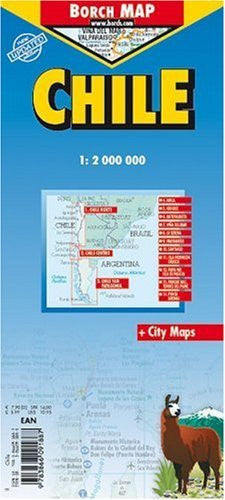 Chile Laminated Map (English Edition)
