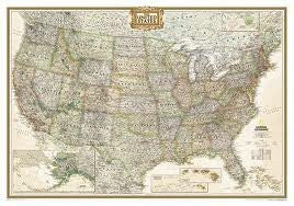 us topo - United States Executive Wall Map - Laminated Publisher: Natl Geographic Society Maps - Wide World Maps & MORE! - Book - Wide World Maps & MORE! - Wide World Maps & MORE!