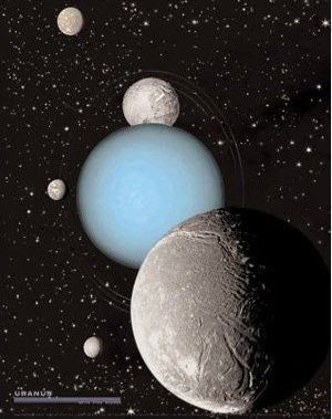 us topo - Uranus with 5 Moons Gloss Lamination - Wide World Maps & MORE! - Book - Wide World Maps & MORE! - Wide World Maps & MORE!