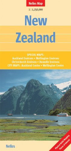 New Zealand Nelles map - Wide World Maps & MORE! - Book - Wide World Maps & MORE! - Wide World Maps & MORE!
