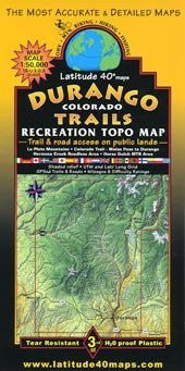 Durango Colorado Trails Recreation Topo Map