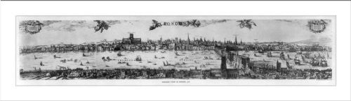 Historic Print (M): Visscher's view of London, 1616