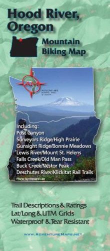 Hood River Oregon Mountain Bike Map