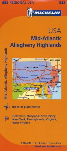 Michelin USA: Mid-Atlantic, Allegheny Highlands Map 582 (Maps/Regional (Michelin)) - Wide World Maps & MORE! - Book - Wide World Maps & MORE! - Wide World Maps & MORE!