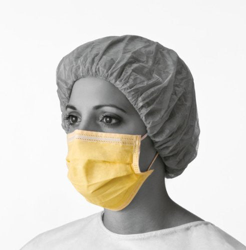 Medline NON27110 Isolation Face Masks with Earloops, Latex Free, Yellow (Pack of 300)