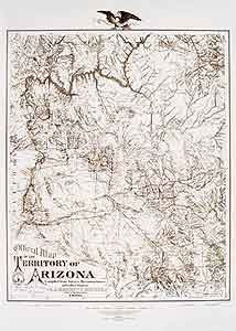 1880 Arizona Territory Reproduction Small Satin Laminated Wall Map (JLW - Antique Wall Map Reproductions)