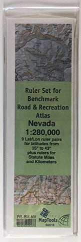 MapTools Ruler Set for Benchmark Road & Recreation Atlas - Nevada